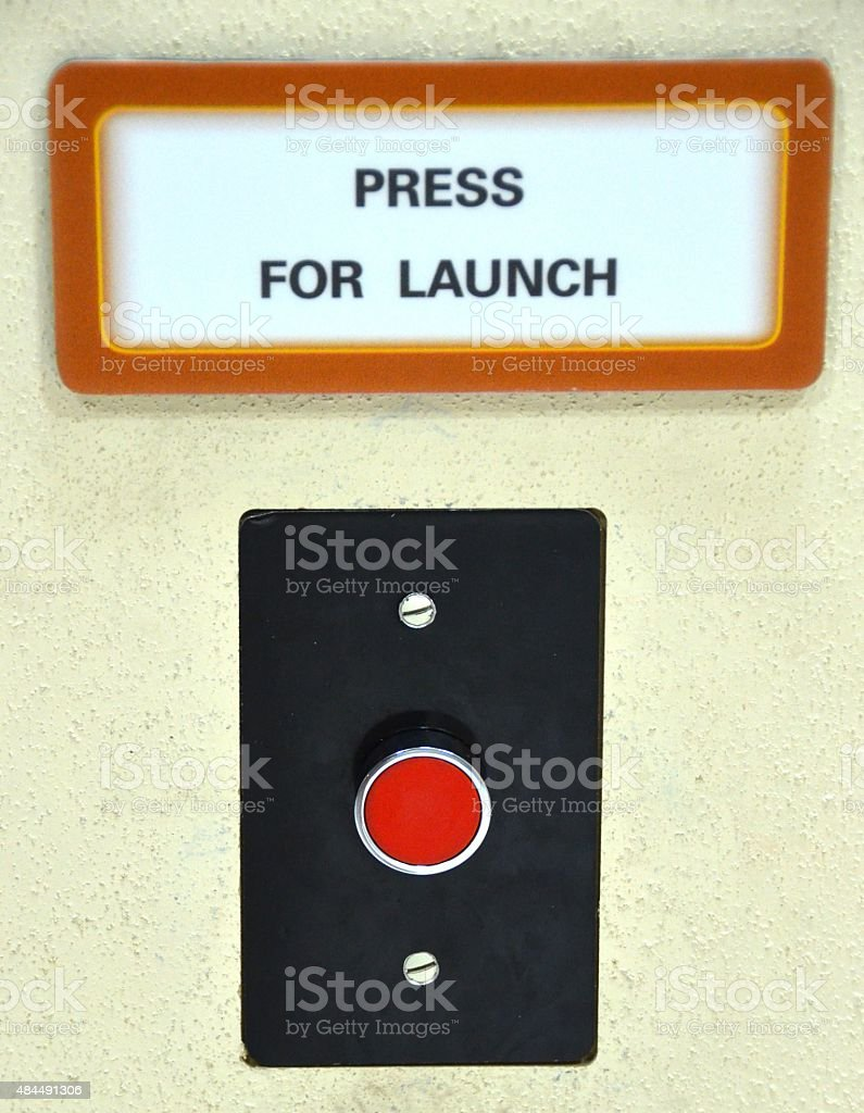 Launch Button for Nuclear Missiles stock photo
