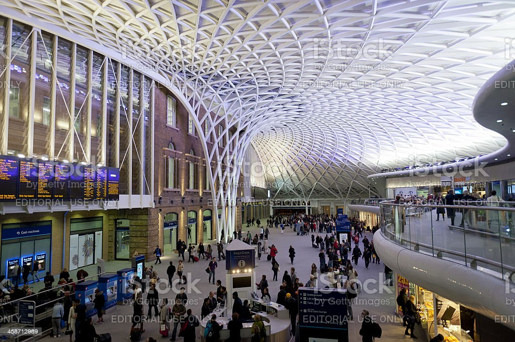 Launch of new London Kings Cross Station stock photo