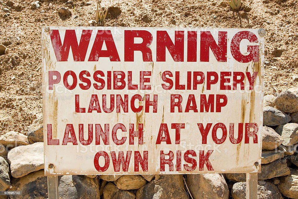 Launch ramp sign royalty-free stock photo