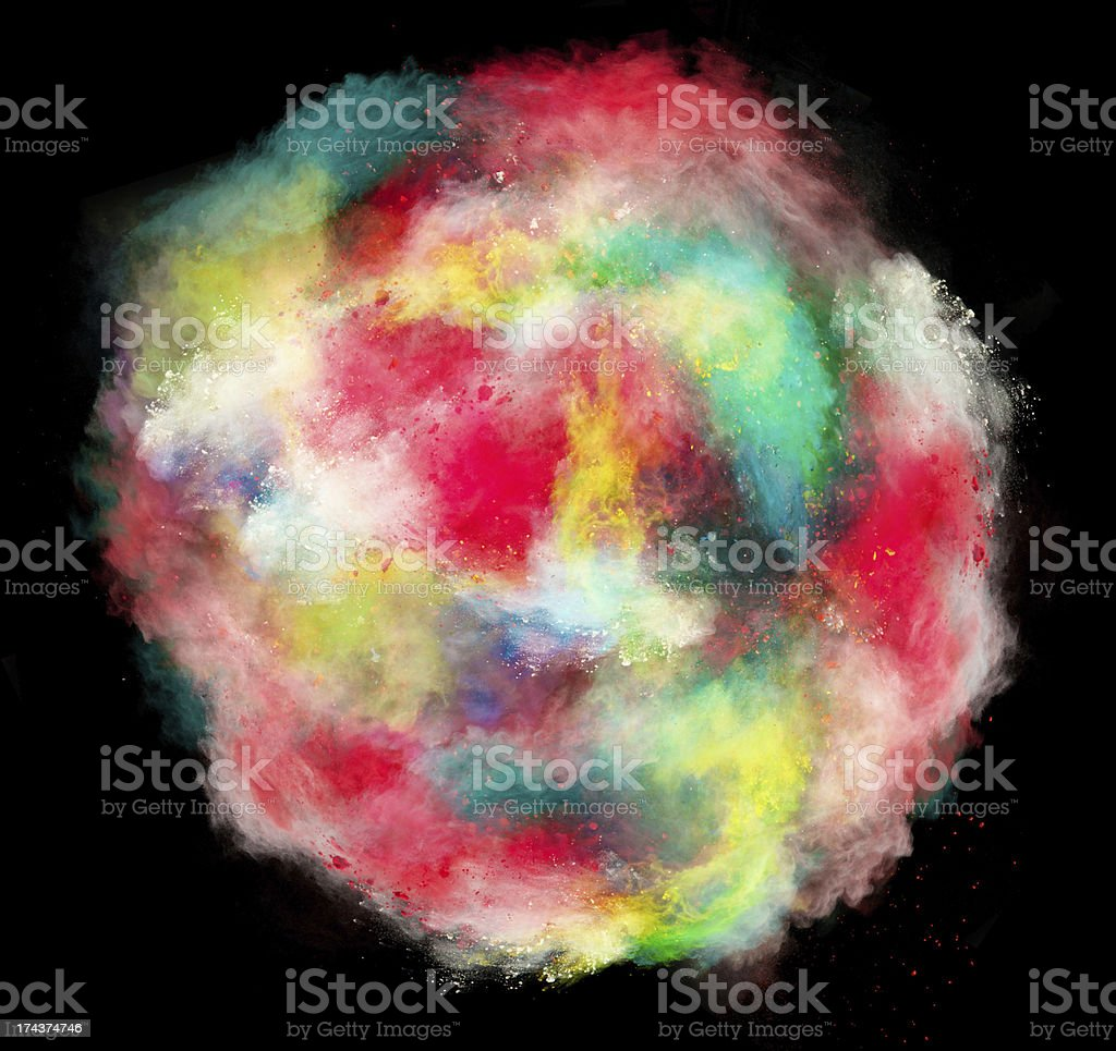 launched colorful powder royalty-free stock photo