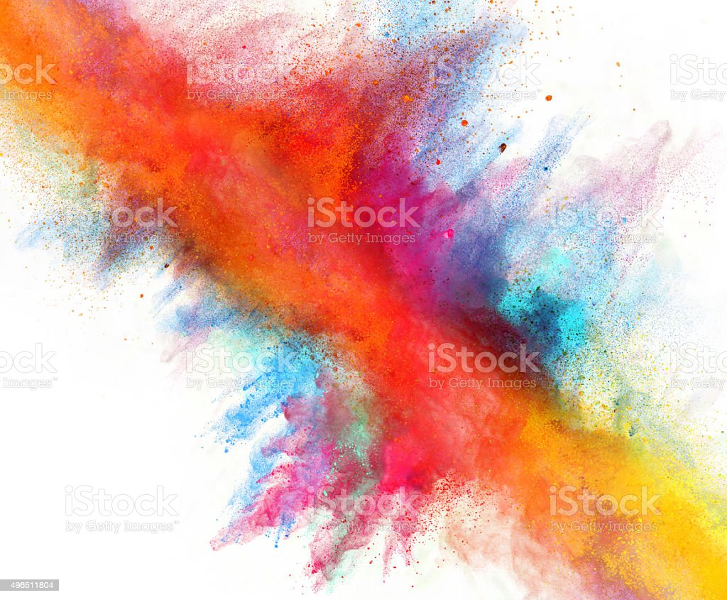 launched colorful powder stock photo