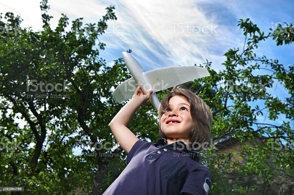 Launching A Model Glider.Color Image royalty-free stock photo