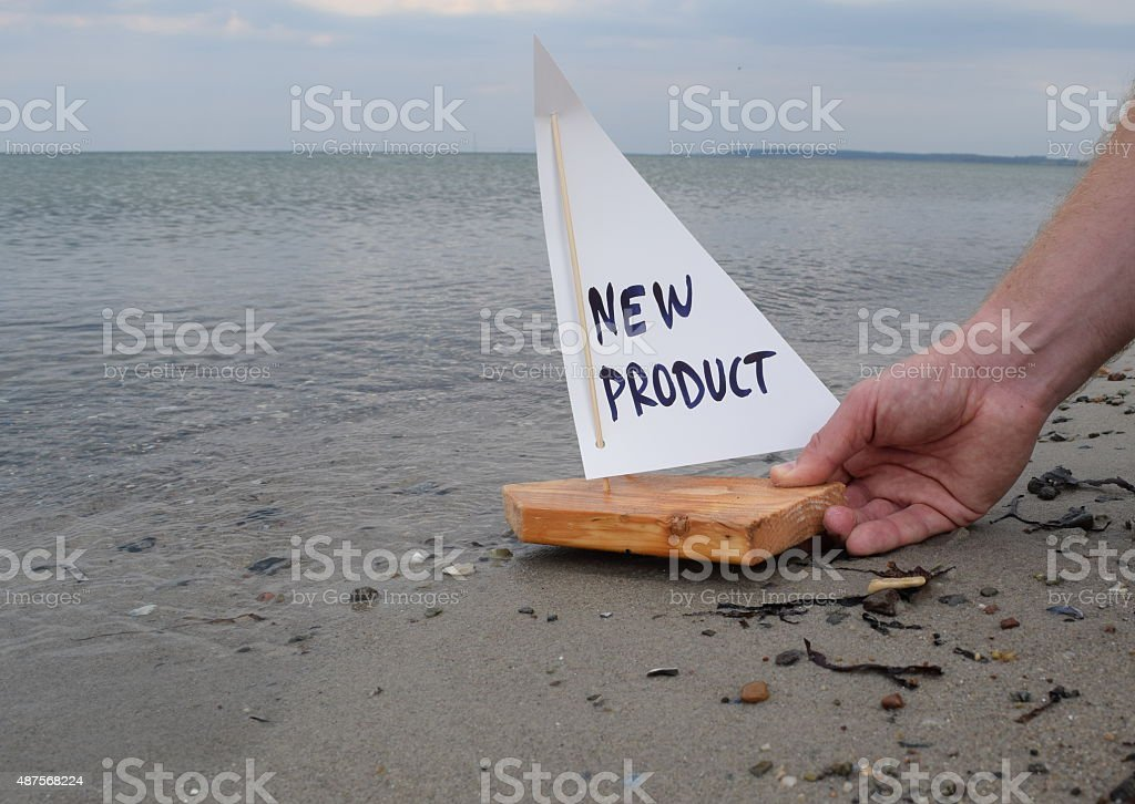 Launching a new product stock photo