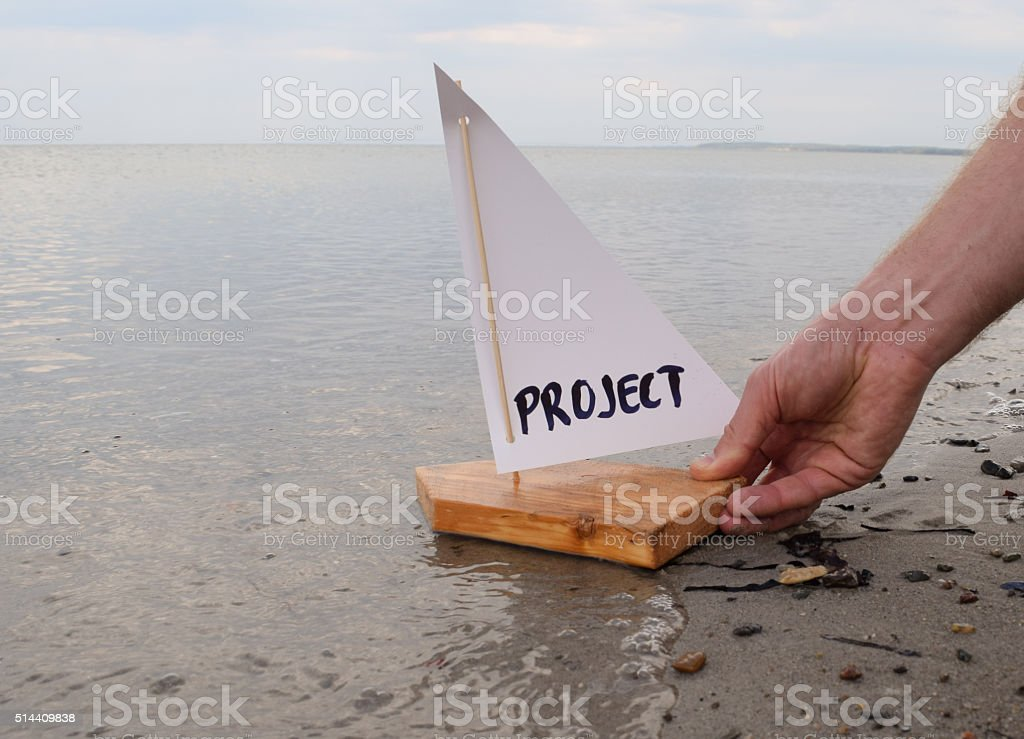 Launching a new project stock photo