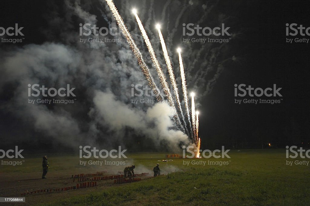 Launching Fireworks royalty-free stock photo