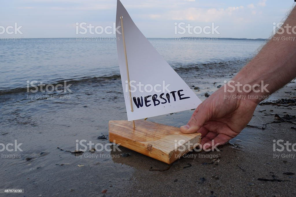 Launching my new website stock photo