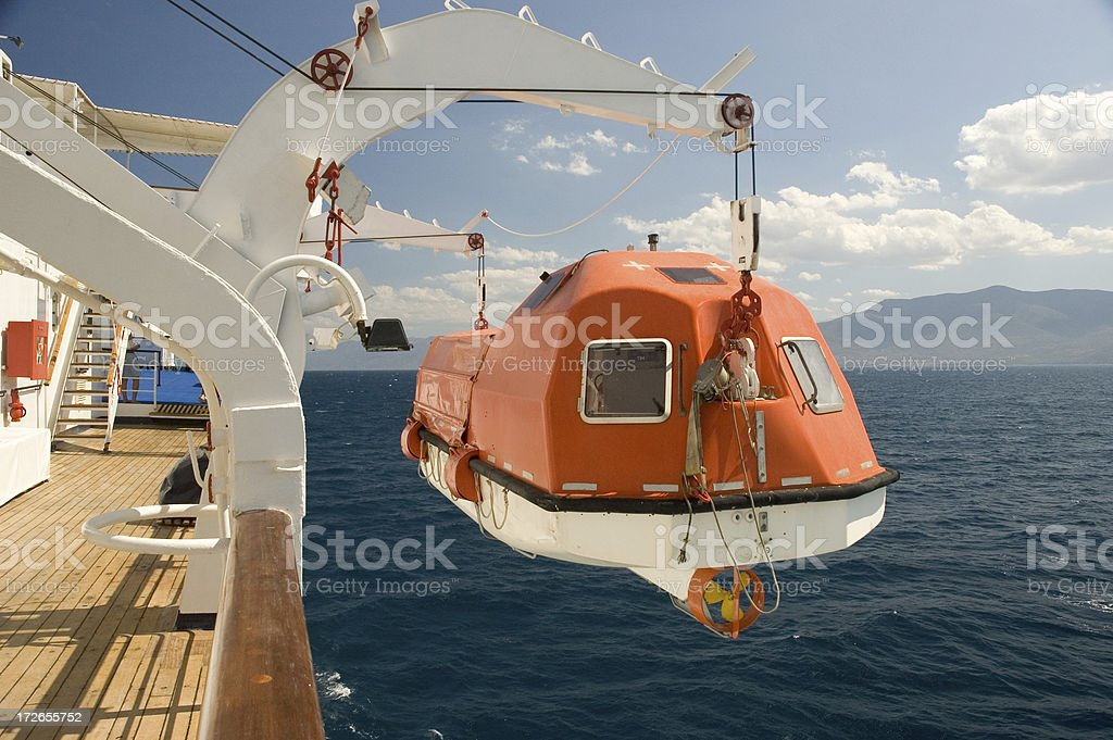 Launching the Lifeboat stock photo