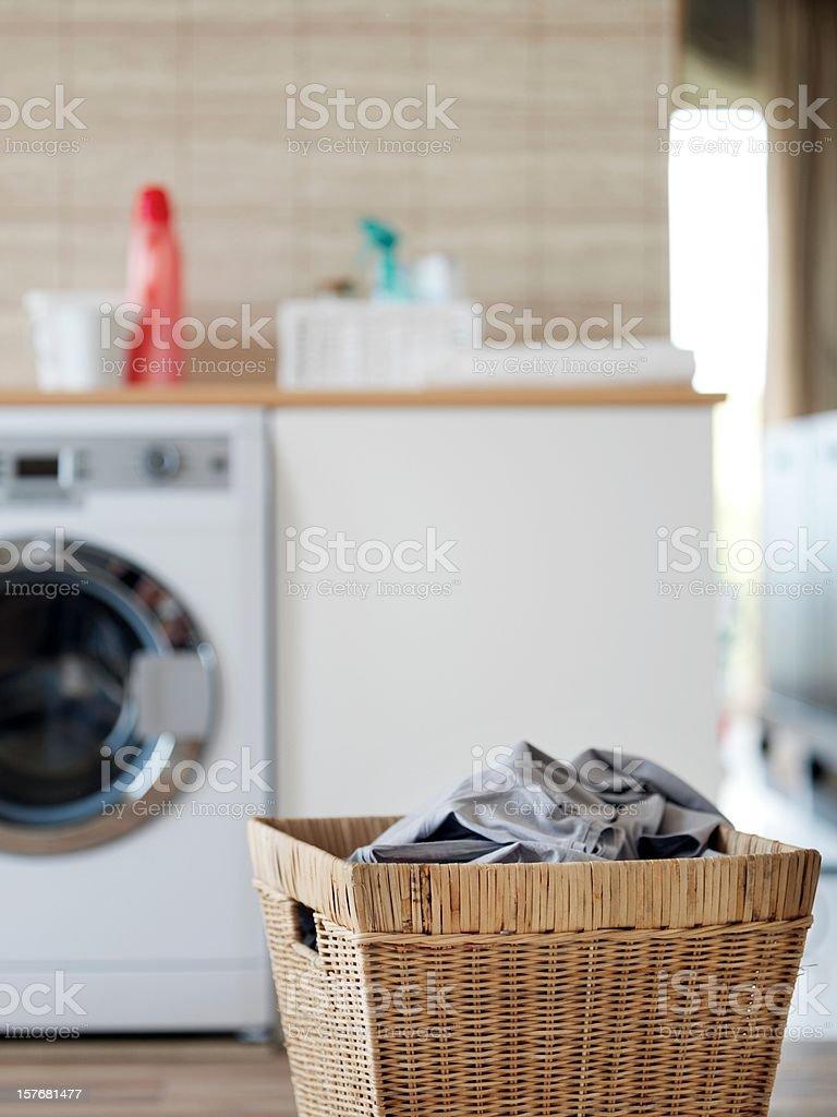 Laundry basket stock photo