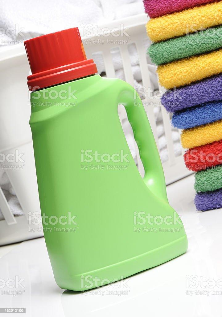 laundry detergent bottle stock photo
