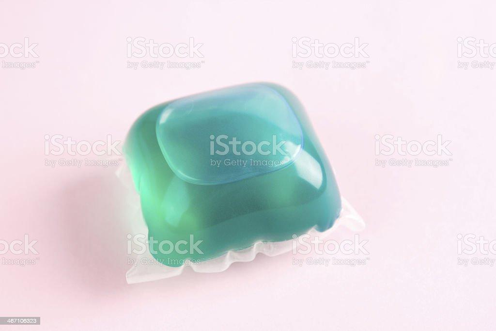 Laundry detergent capsule stock photo