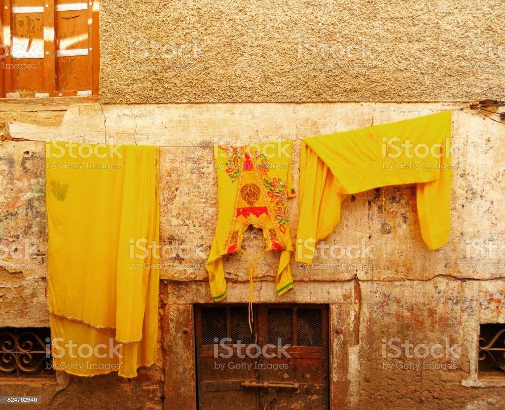Laundry Jaisalmer Fort stock photo