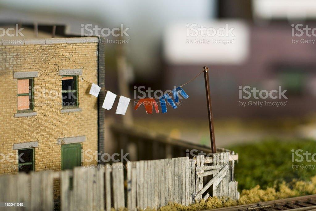 Laundry line stock photo
