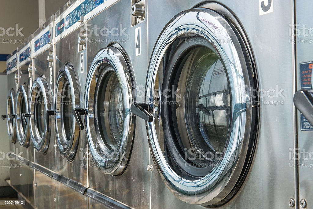 laundry machine stock photo