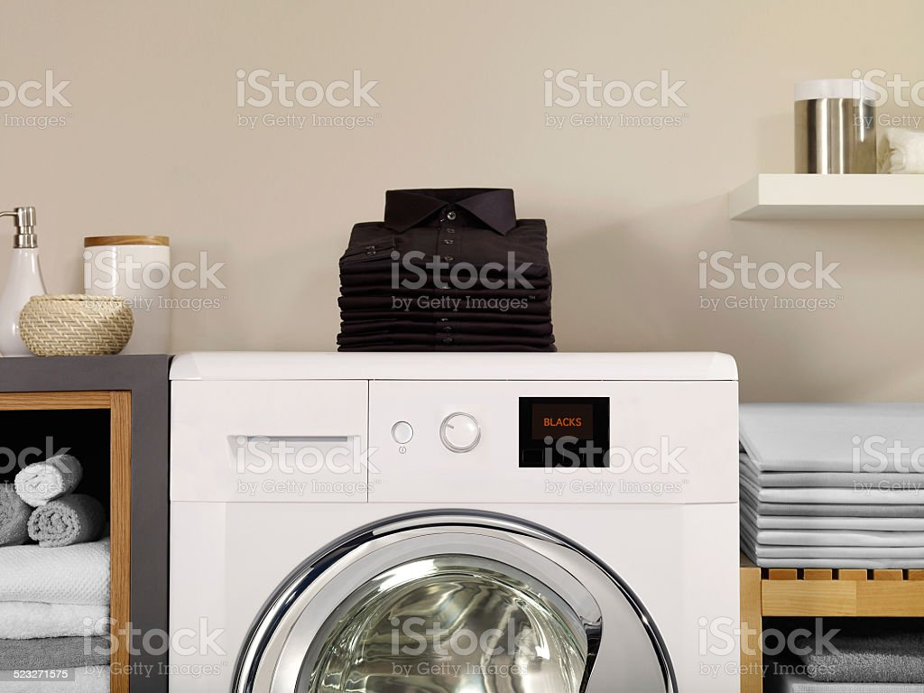 Laundry room and blacks stock photo