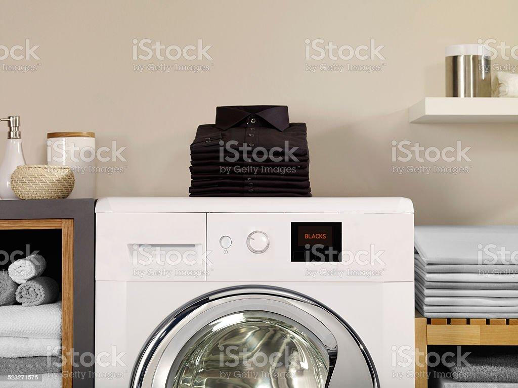 Laundry room and blacks stock photo
