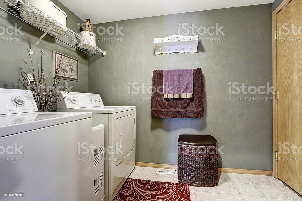 Laundry room interior stock photo