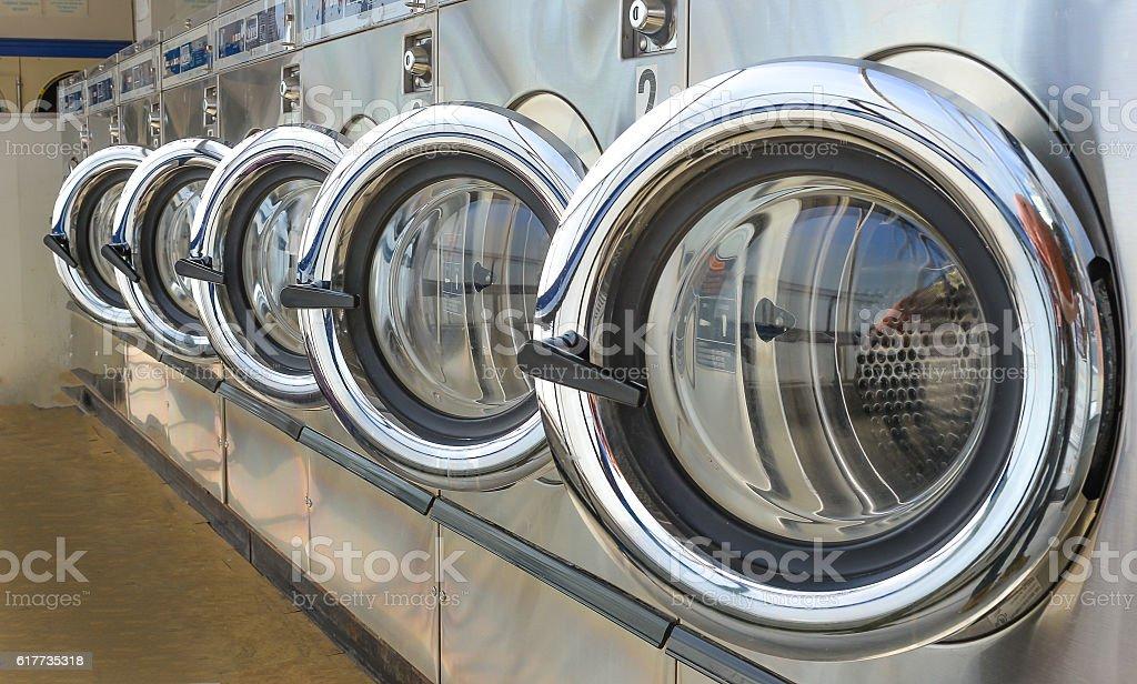 Laundry shop stock photo
