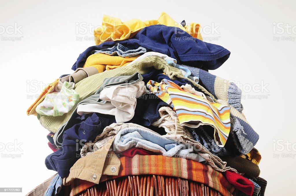 Laundry tower stock photo