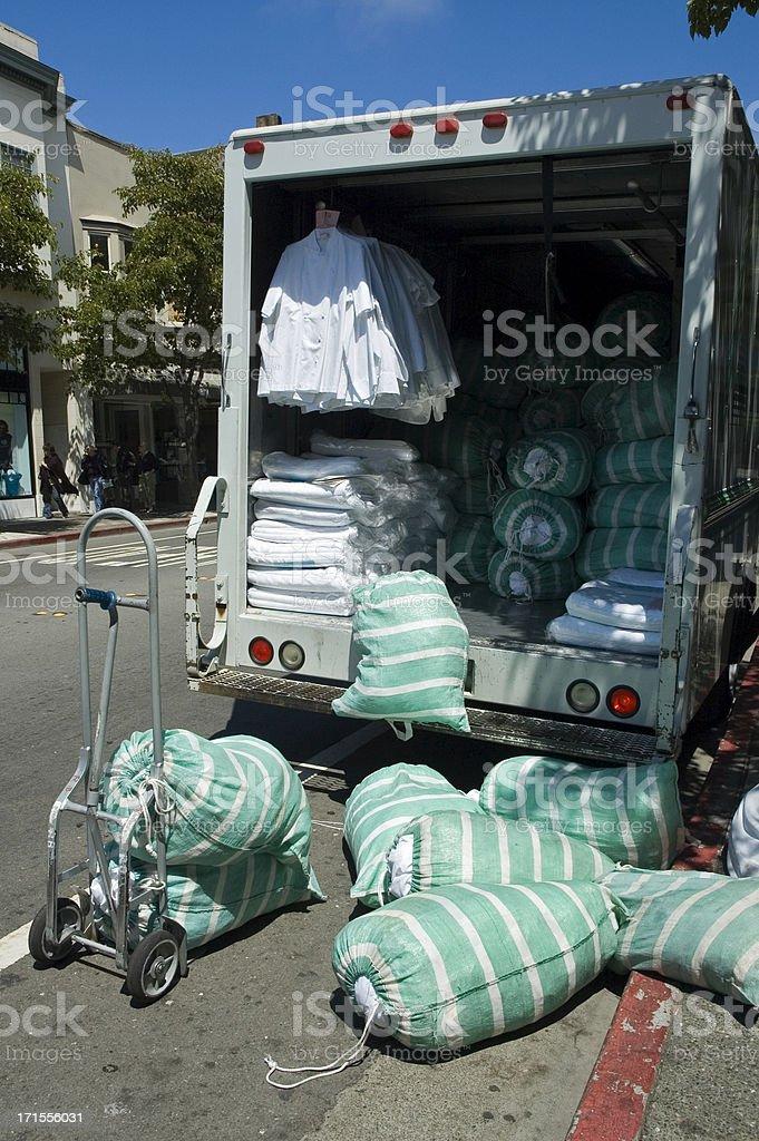Camion di lavanderia foto stock royalty-free
