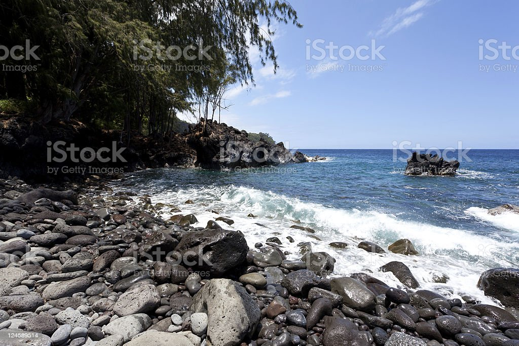 Laupahoehoe Cove stock photo