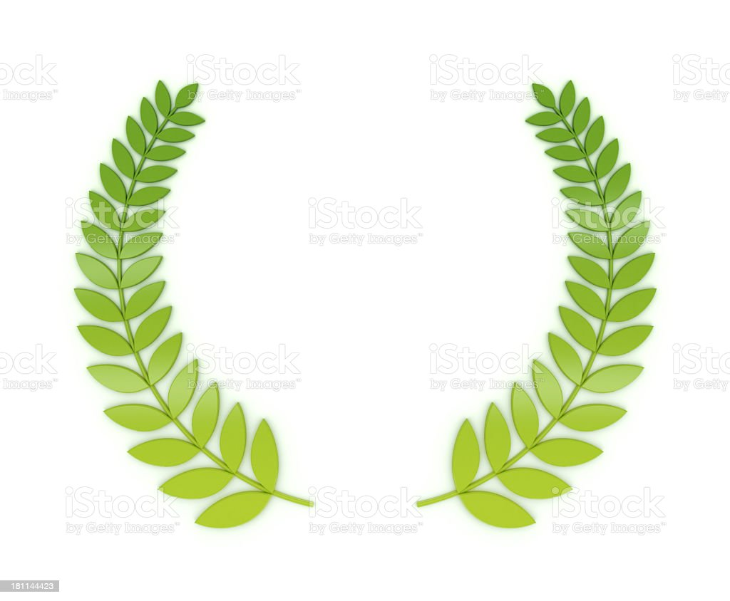 Laurels wreath royalty-free stock photo