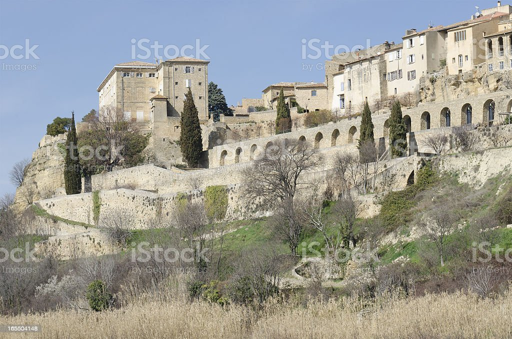 Lauris, perched village in Provence royalty-free stock photo