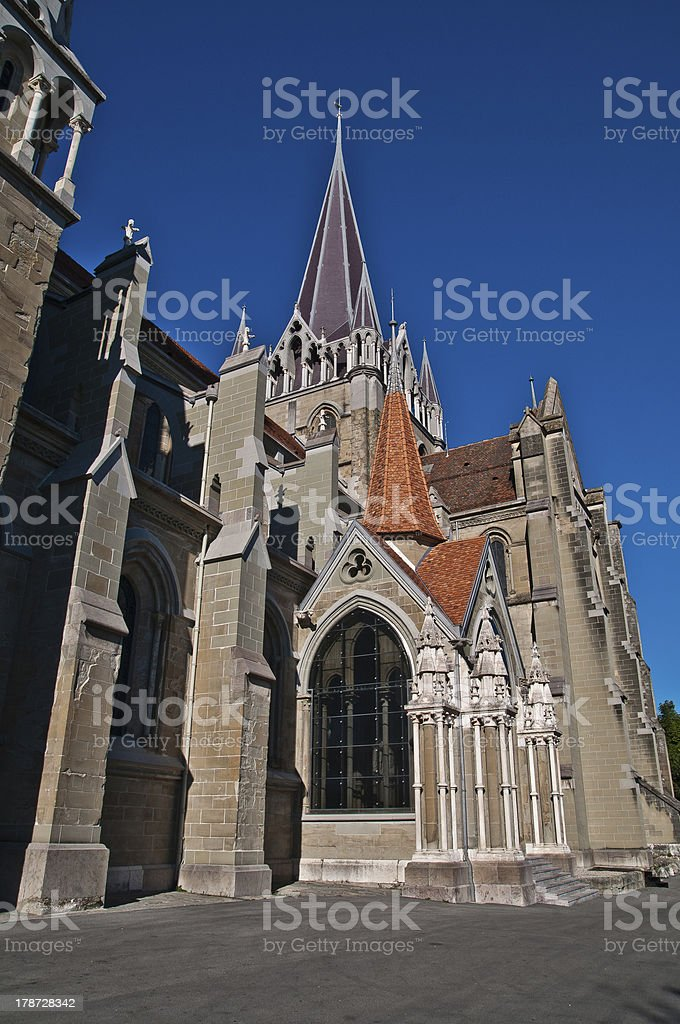 Lausanne Cathedral royalty-free stock photo