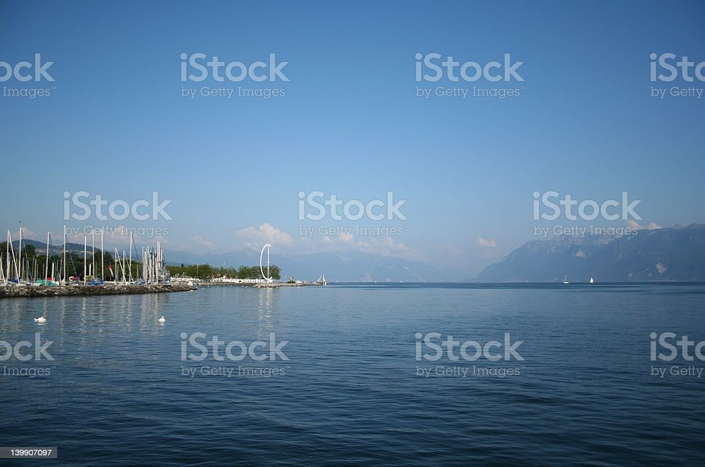 Lausanne - Ouchy stock photo