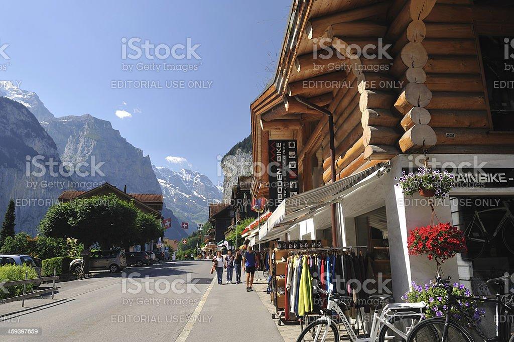 Lauterbrunnen in Summer royalty-free stock photo