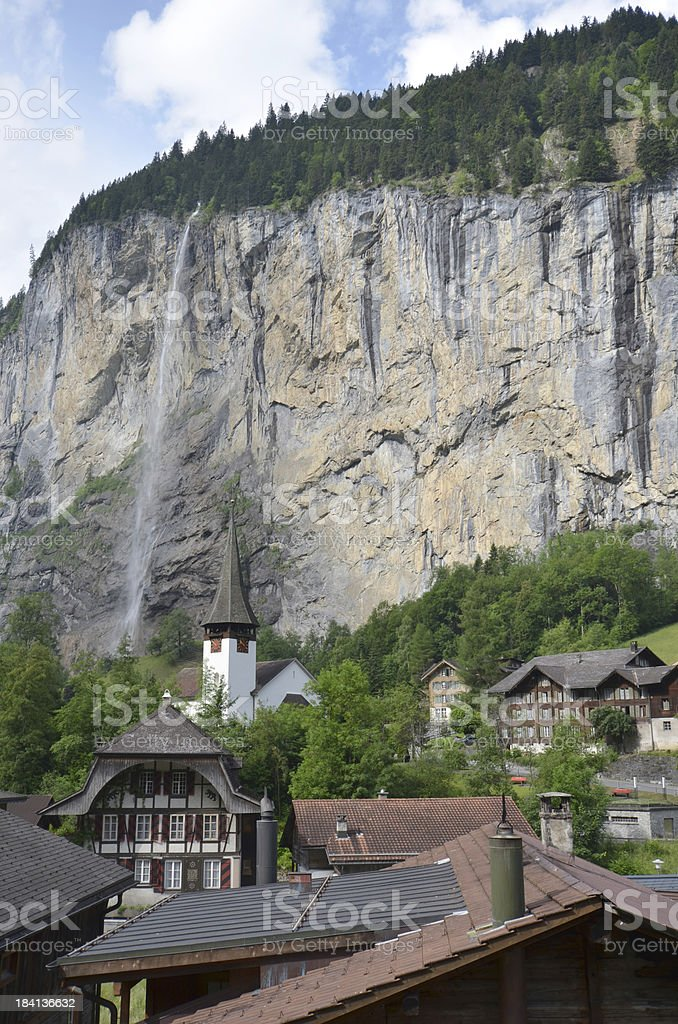 Lauterbrunnen in Switzerland stock photo