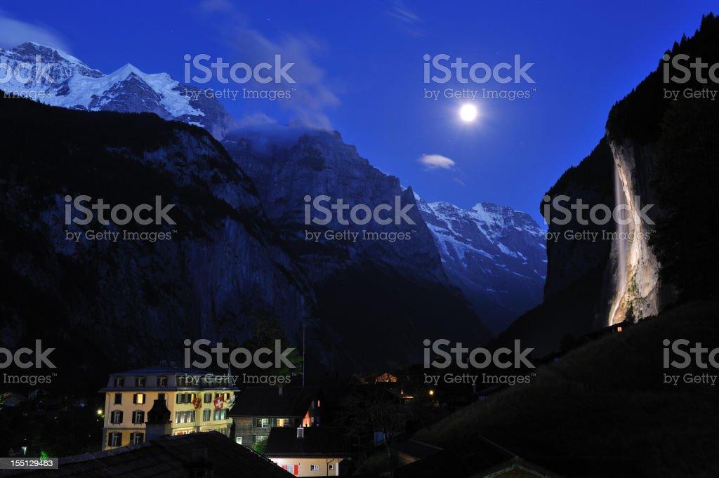 Lauterbrunnen Night royalty-free stock photo