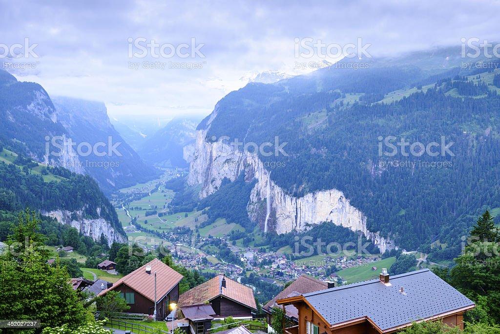 Lauterbrunnen Valley in the Bernese Oberland, Switzerland -XXXL stock photo