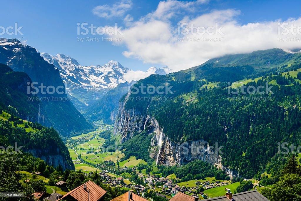 XXXL: Lauterbrunnen Valley in the Bernese Oberland, Switzerland -XXXL stock photo