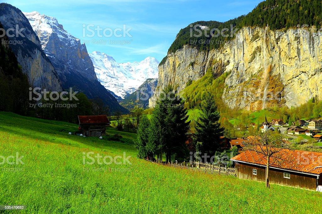 Lauterbrunnen Valley stock photo