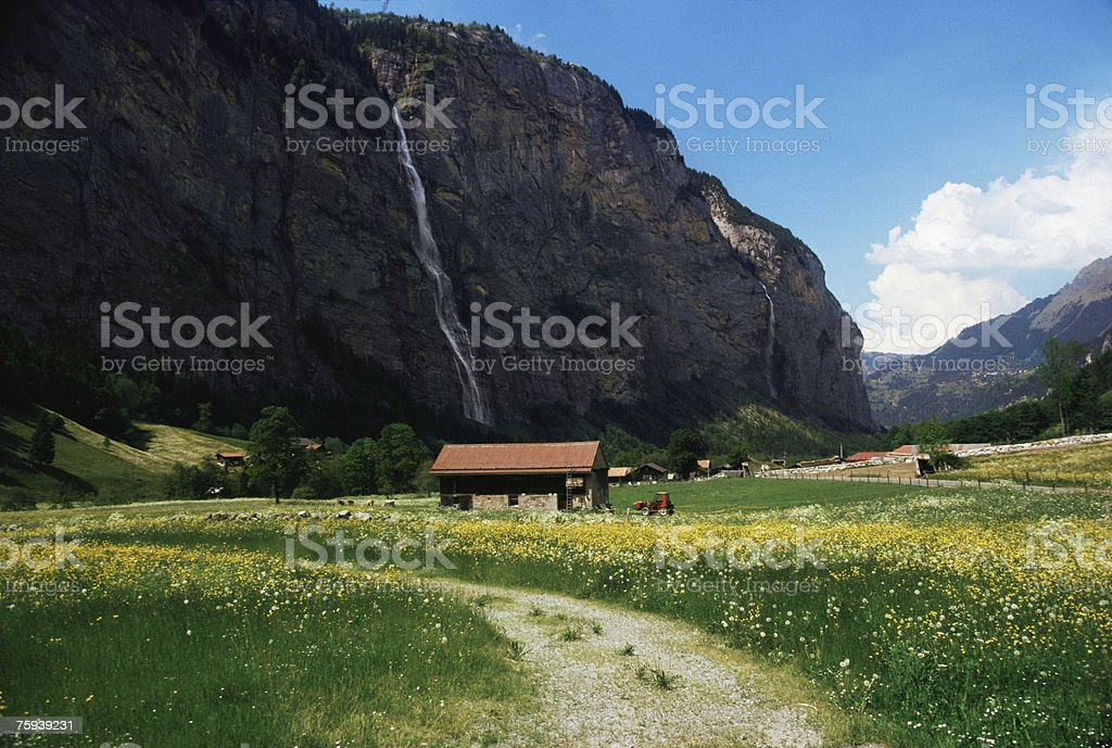 Lauterbrunnen valley royalty-free stock photo