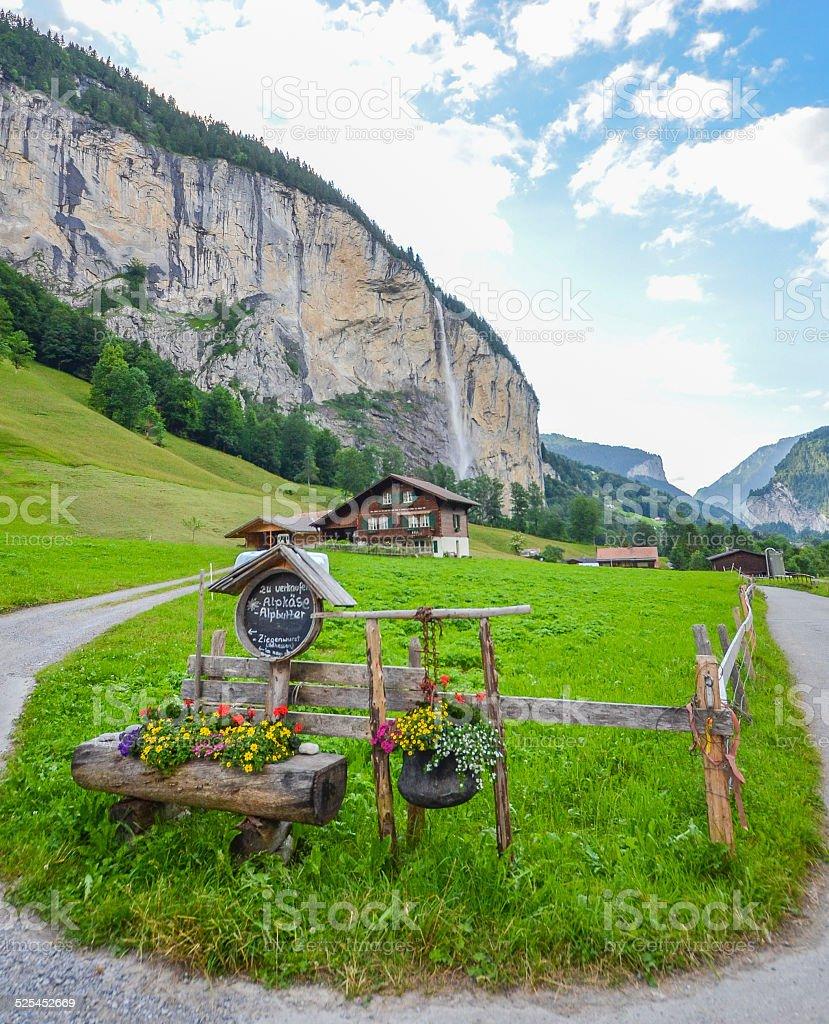 Lauterbrunnen valley, Switzerland stock photo