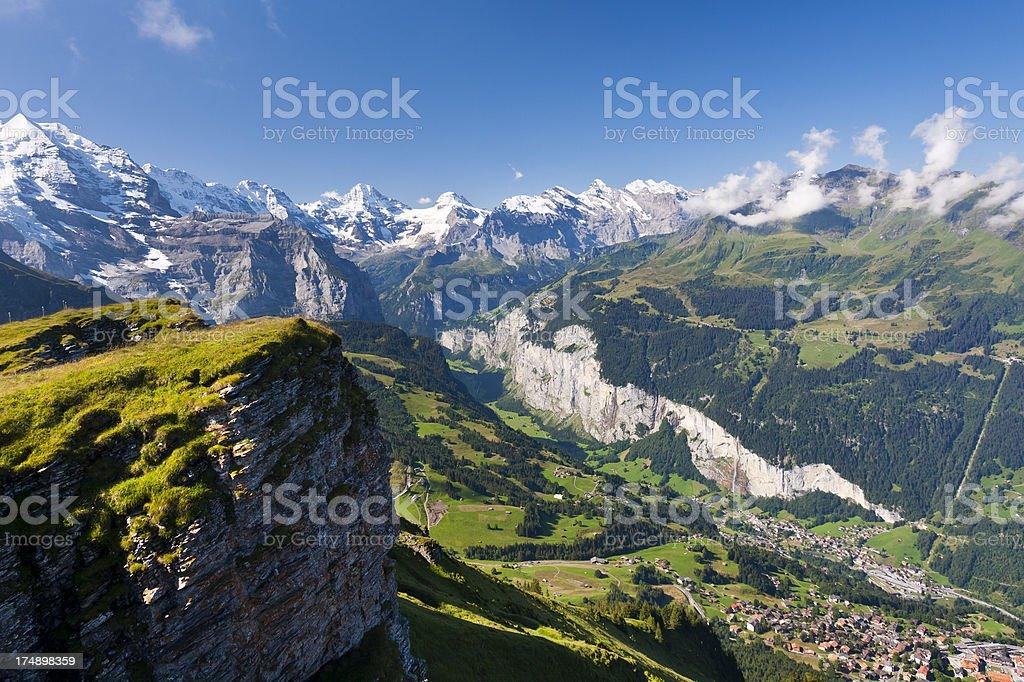 Lauterbrunnental, Swiss Alps stock photo