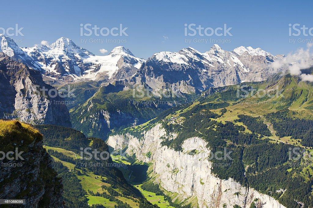 Lauterbrunnental, Swiss Alps royalty-free stock photo