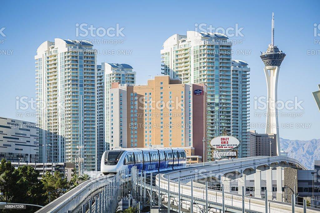 Lav Vegas Monorail stock photo