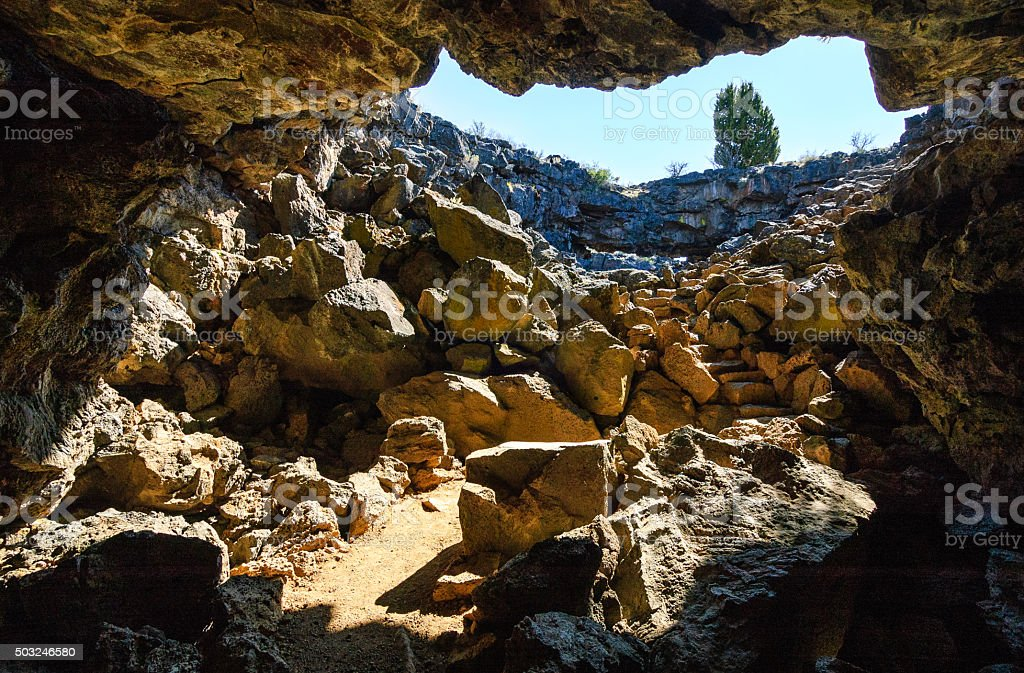 Lava Beds National Monument stock photo