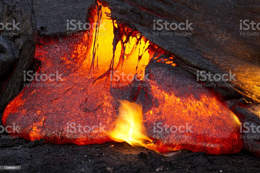 Lava Emerging stock photo