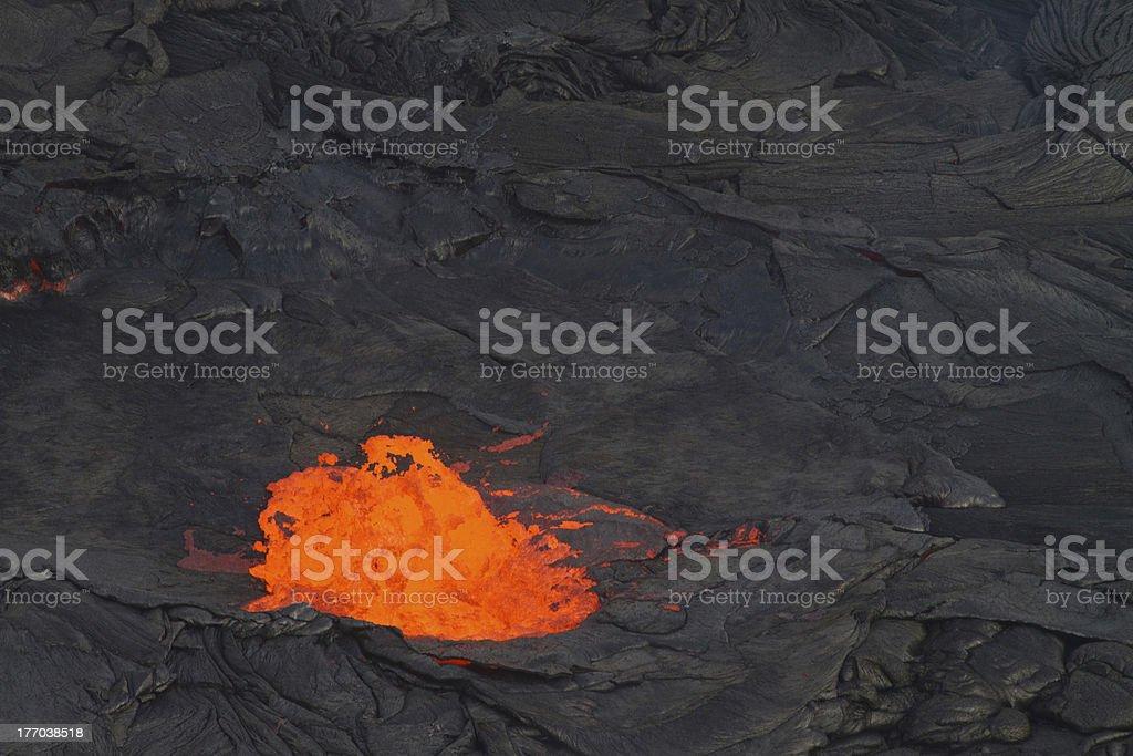 lava eruption - Hawaii stock photo