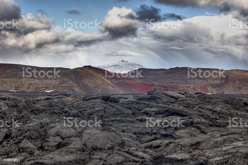 Lava field royalty-free stock photo