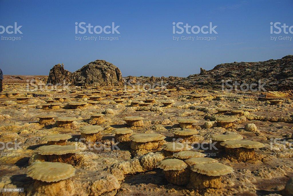 Lava Fields in the Danakil Desert stock photo