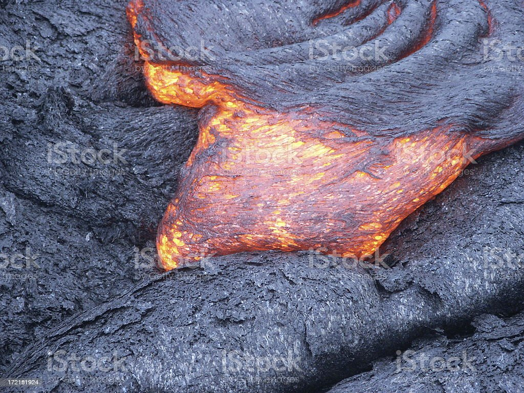 Lava flow royalty-free stock photo