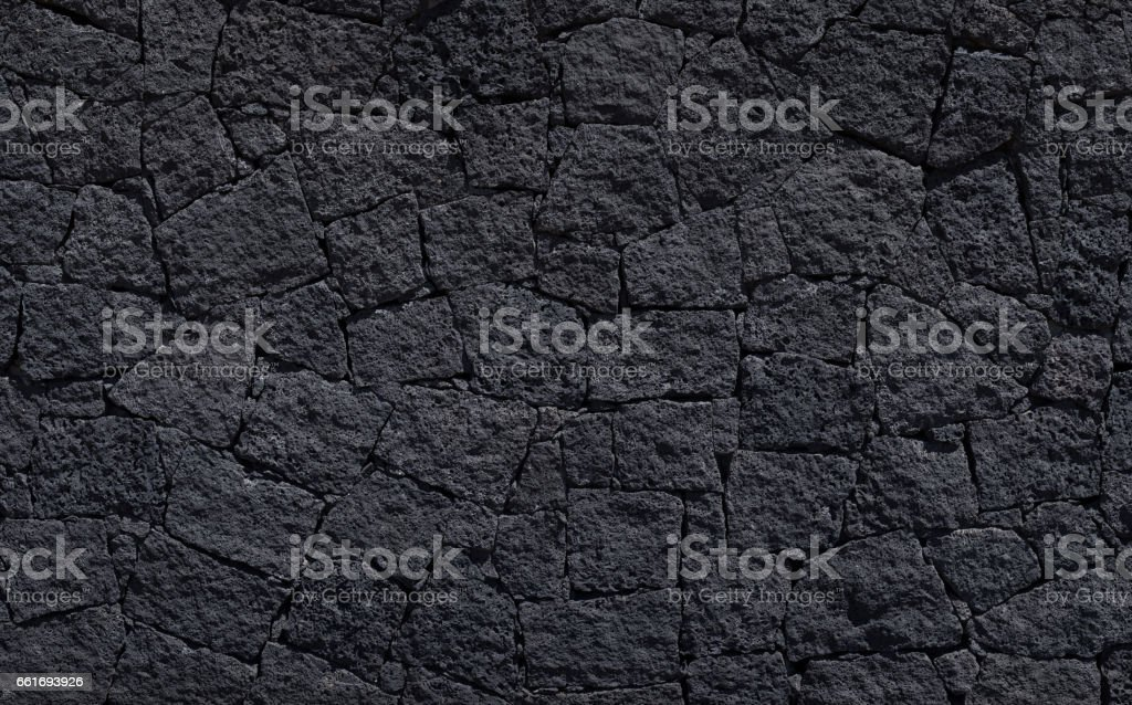 Lava gravel background - black colour - Stock image stock photo