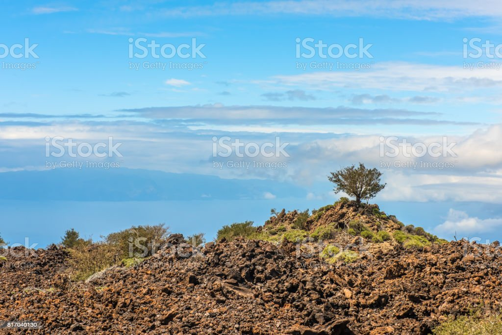 lava landscape Teide volcano Tenerife Canary stock photo