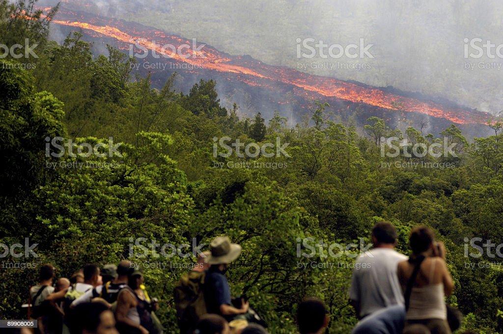lava on the mountain 3 stock photo