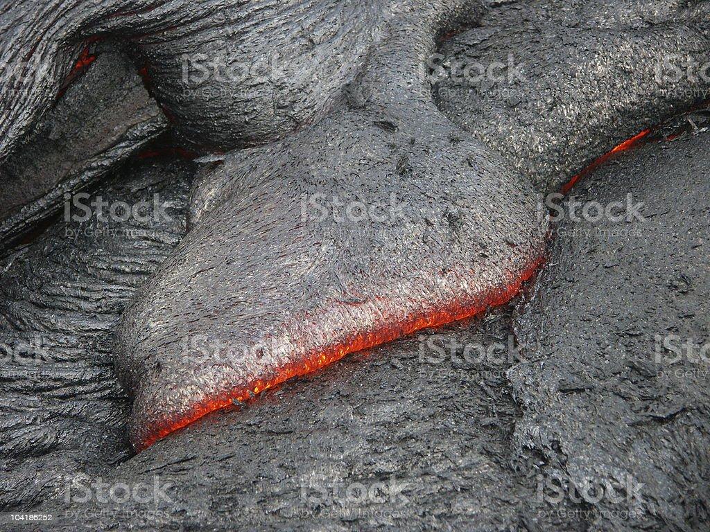 Lava print stock photo