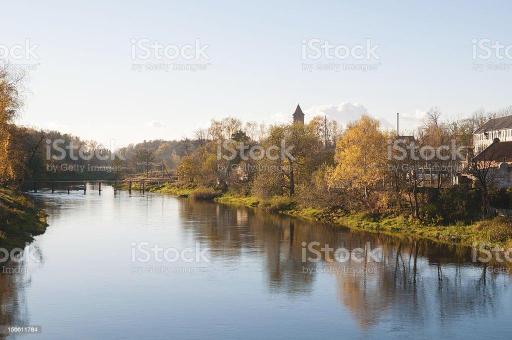 Lava river in Pravdinsk royalty-free stock photo